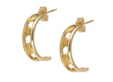 Rail Gold Nugget Earrings