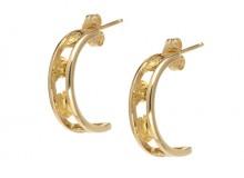 Rail Gold Nugget Earrings