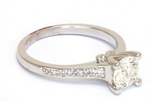Diamond Ring with Band Cluster