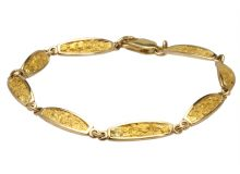 Nugget Bracelet Square Oval Inlaid